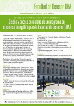 Diseño y puesta en marcha de un programa de eficiencia energética para la Facultad de Derecho (UBA)