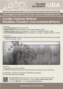 Ecocidio y Episteme Moderna: Hiroshima, Chernobyl y otros escenarios del horror