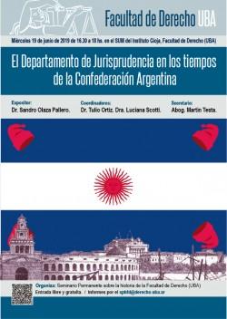 El Departamento de Jurisprudencia en los tiempos de la Confederación Argentina
