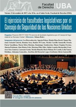 El ejercicio de facultades legislativas por el Consejo de Seguridad de las Naciones Unidas