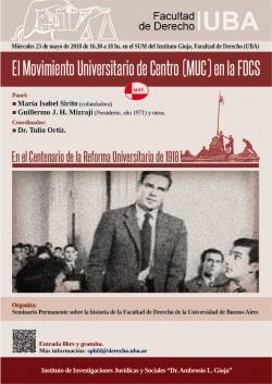 El Movimiento Universitario de Centro (MUC) en la FDCS.