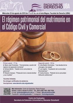 El régimen patrimonial del matrimonio en el Código Civil y Comercial