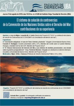 El sistema de solución de controversias de la Convención de las Naciones Unidas sobre el Derecho del Mar: contribuciones de su experiencia