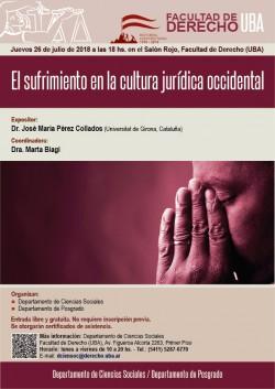 El sufrimiento en la Cultura Jurídica Occidental
