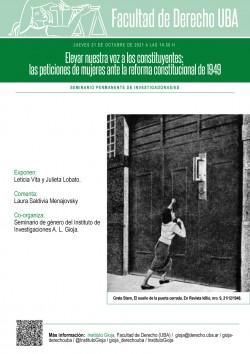Elevar nuestra voz a los constituyentes: las peticiones de mujeres ante la reforma constitucional de 1949