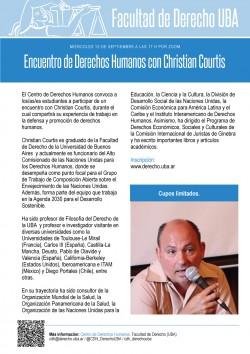 Encuentro de Derechos Humanos con Christian Courtis