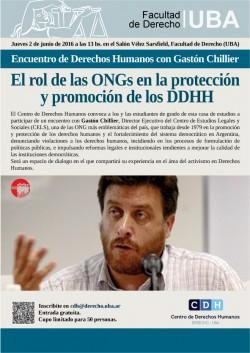Encuentro de Derechos Humanos con Gastón Chillier: El rol de las ONGs en la protección y promoción de los DDHH