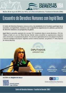 Encuentro de Derechos Humanos con Ingrid Beck