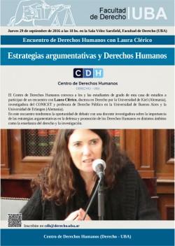 Encuentro de Derechos Humanos con Laura Clérico: Estrategias argumentativas y Derechos Humanos