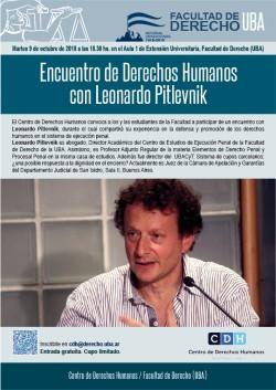Encuentro de Derechos Humanos con Leonardo Pitlevnik