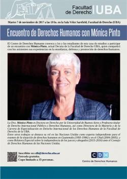Encuentro de Derechos Humanos con Mónica Pinto