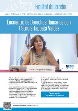 Encuentro de Derechos Humanos con Patricia Tappatá Valdez