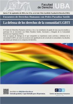 Encuentro de Derechos Humanos con Pedro Paradiso Sottile: La defensa de los derechos de la comunidad LGBTI