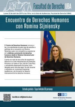 Encuentro de Derechos Humanos con Romina Sijniensky
