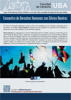 Encuentro de Derechos Humanos con  Silvina Ramírez