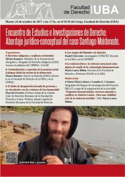 Encuentro de Estudios e Investigaciones de Derecho: Abordaje jurídico-conceptual del caso Santiago Maldonado