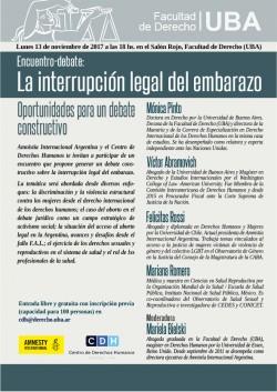 """Encuentro-debate """"La interrupción legal del embarazo. Oportunidades para un debate constructivo"""""""