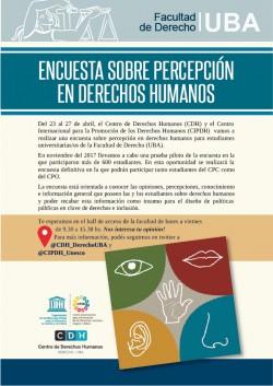 Encuesta sobre percepción en derechos humanos