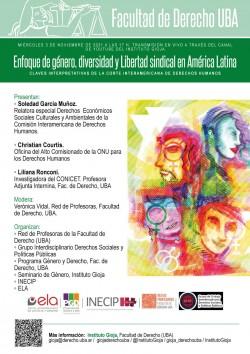 Enfoque de género, diversidad y Libertad sindical en América Latina. Claves interpretativas de la Corte Interamericana de Derechos Humanos