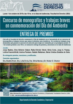 Entrega de premios del concurso de monografías y ensayos breves en conmemoración del Día del Ambiente