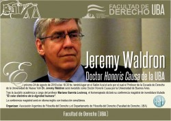 Entrega del Doctorado <i>Honoris Causa</i> al Dr. Jeremy Waldron