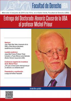 Entrega del Doctorado <i>Honoris Causa</i> de la UBA al profesor Michel Prieur
