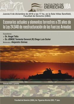 Escenarios actuales y elementos terrestres a 20 años de la Ley 24.948 de reestructuración de las Fuerzas Armadas
