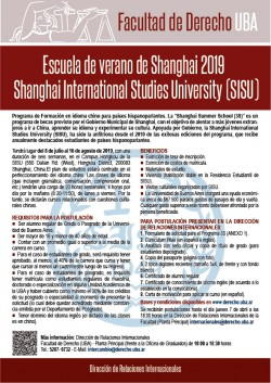 Escuela de verano de Shanghai 2019 - Shanghai International Studies University (SISU)