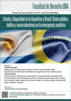 Estado y Seguridad en la Argentina y Brasil. Orden público, delitos y excarcelaciones en la emergencia sanitaria