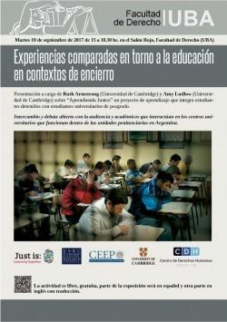 Experiencias comparadas en torno a la educación en contextos de encierro