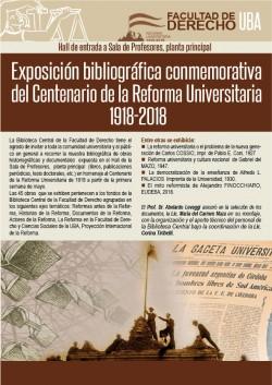 Exposición bibliográfica conmemorativa del Centenario de la Reforma Universitaria 1918-2018