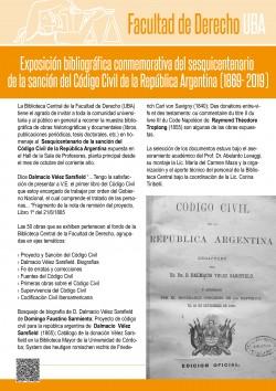 Exposición bibliográfica conmemorativa del sesquicentenario de la sanción del Código Civil de la República Argentina (1869- 2019)