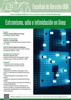 Extremismo, odio e intimidación en línea
