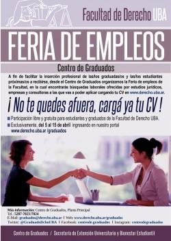 Feria de empleos 2019: ¡No te quedes afuera, cargá ya tu CV!