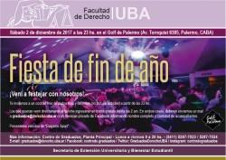 Fiesta de fin de año del Centro de Graduados 2017