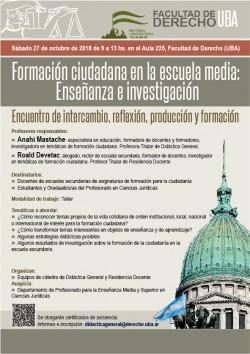 Formación ciudadana en la escuela media: Enseñanza e investigación