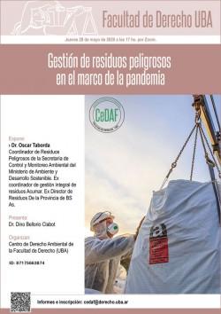Gestión de residuos peligrosos en el.marco de la pandemia