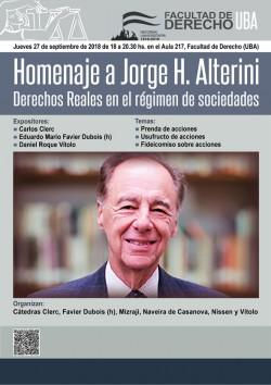 Homenaje a Jorge H. Alterini. Derechos Reales en el régimen de sociedades