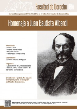 Homenaje a Juan Bautista Alberdi