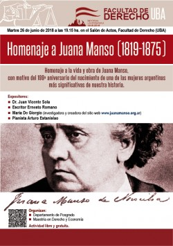 Homenaje a Juana Manso (1819-1875)