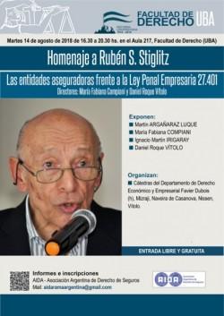 Homenaje a Rubén S. Stiglitz: Las entidades aseguradoras frente a la Ley Penal Empresaria 27.401