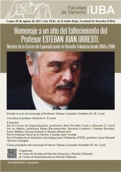 Homenaje a un año del fallecimiento del  profesor Esteban Juan Urresti