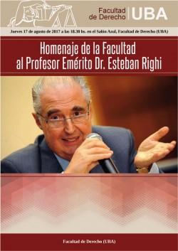 Homenaje de la Facultad al Profesor Emérito Dr. Esteban Righi