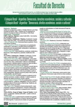 I Coloquio Brasil - Argentina: Democracia, derechos económicos, sociales y culturales