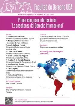 """I Congreso Internacional """"La enseñanza del Derecho Internacional"""""""