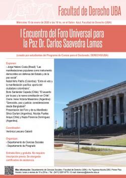 I Encuentro del Foro Universal para la Paz Dr. Carlos Saavedra Lamas - (Segundo día)