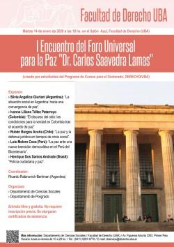 I Encuentro del Foro Universal para la Paz - Dr. Carlos Saavedra Lamas