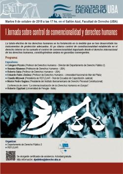 I Jornada sobre control de convencionalidad  y derechos humanos