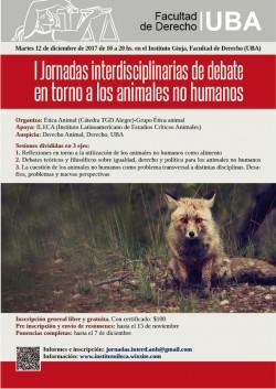 I Jornadas interdisciplinarias de debate en torno a los animales no humanos