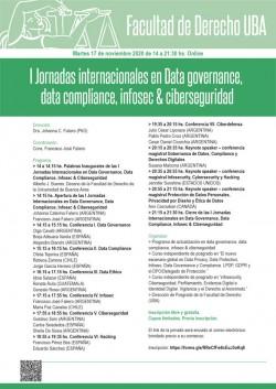 I Jornadas internacionales en Data <i>governance</i>, data <i>compliance</i>, infosec & ciberseguridad